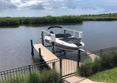 Gate on a dock