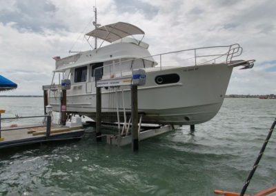 Davit Master Boat lift and dock install