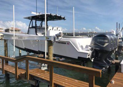 Davit Master Boat lift installation in Tampa
