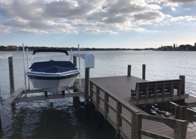 Boat Lift installation for a small boat