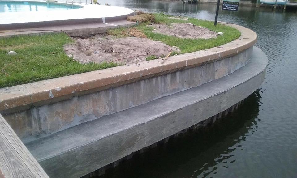 Concrete Seawall in St. Petersburg