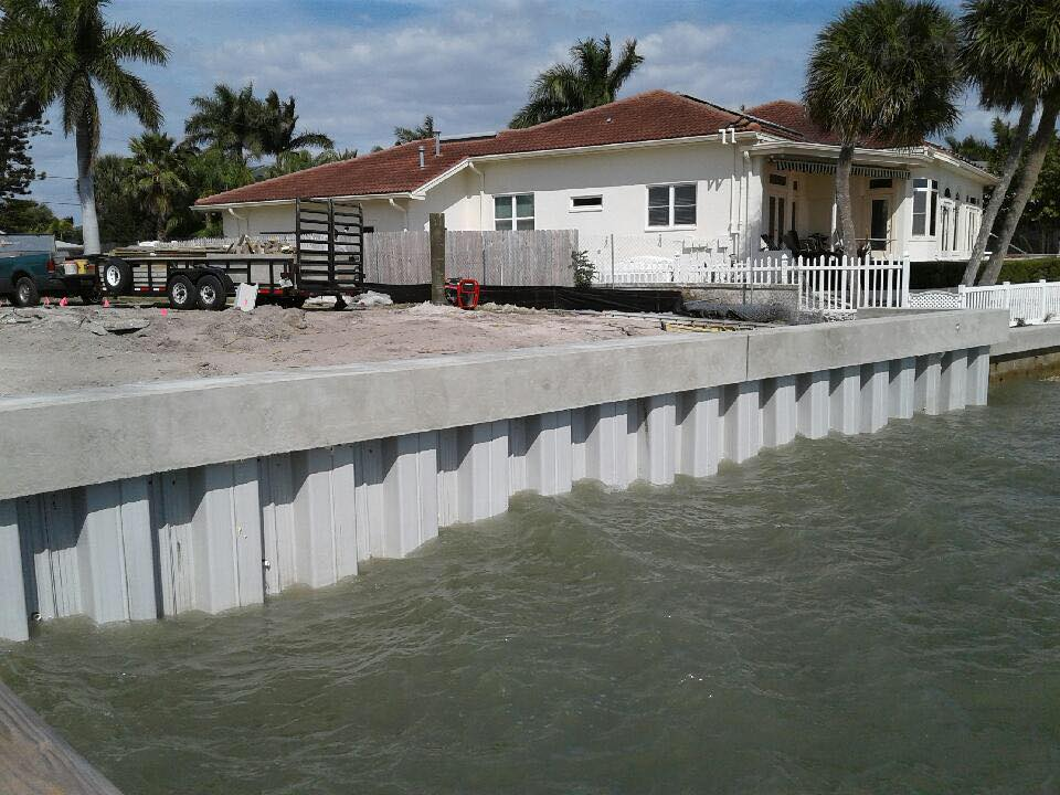 Florida vinyl seawall