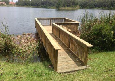 A dock build.