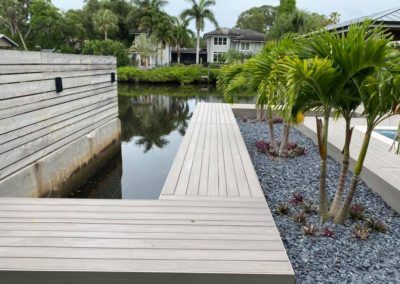 Landscaping and Seawall