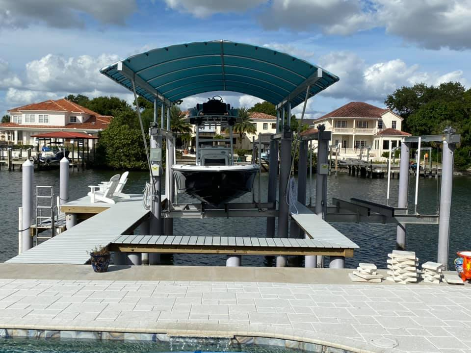 Dock and Aluminum boat house
