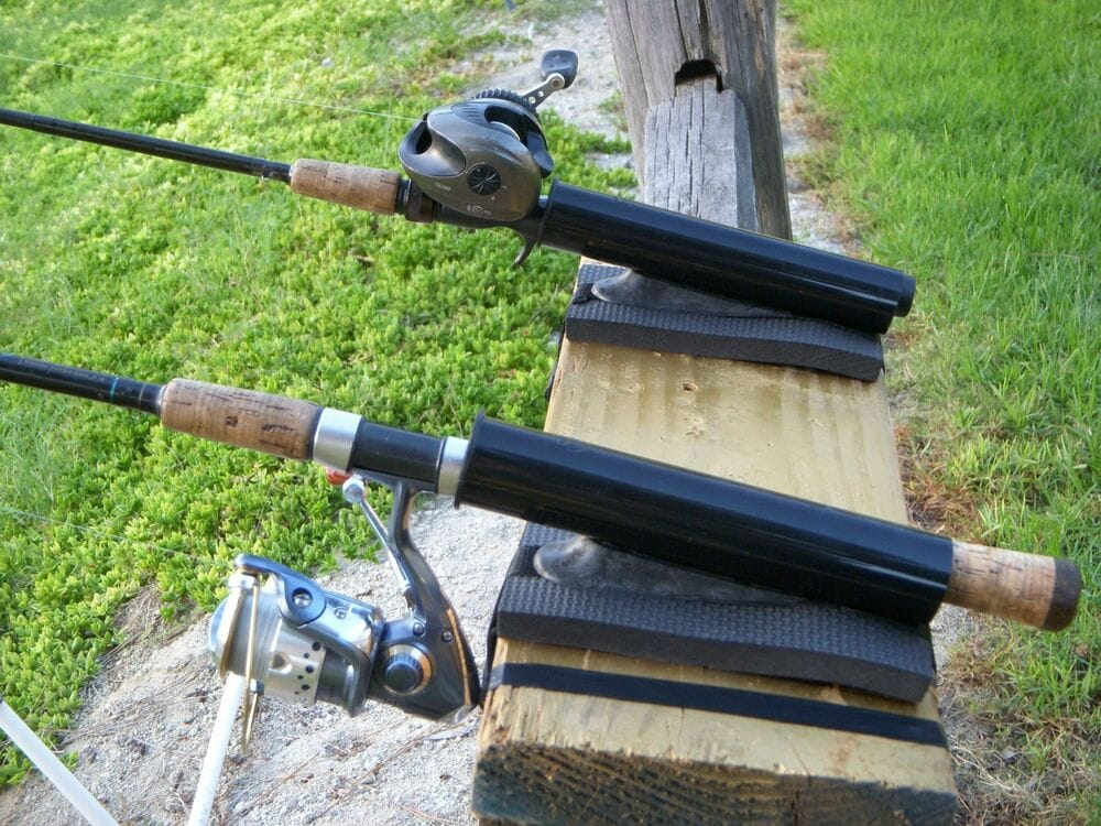 fishing rod holder for a dock